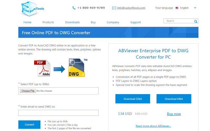 Looking for free PDF to DXF converter? Look no further.Enter the email address where you want your converted files to be sent and click