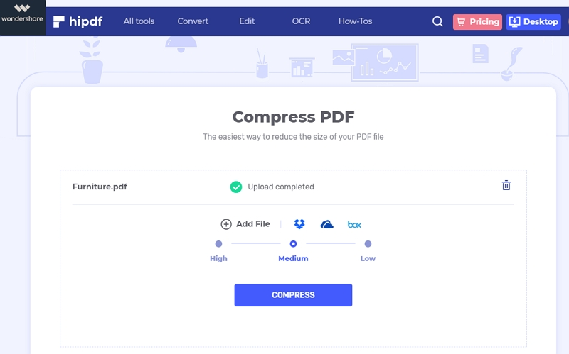 compress pdf to chosen size online