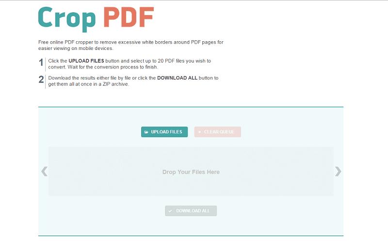 crop pdf free