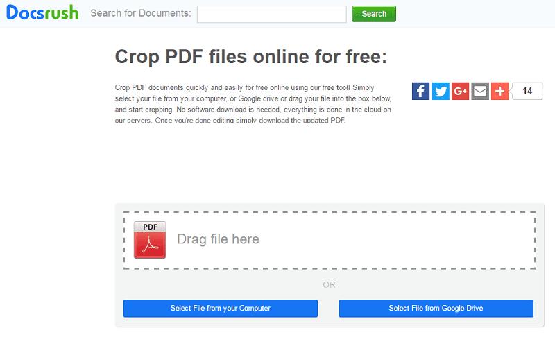 online pdf crop