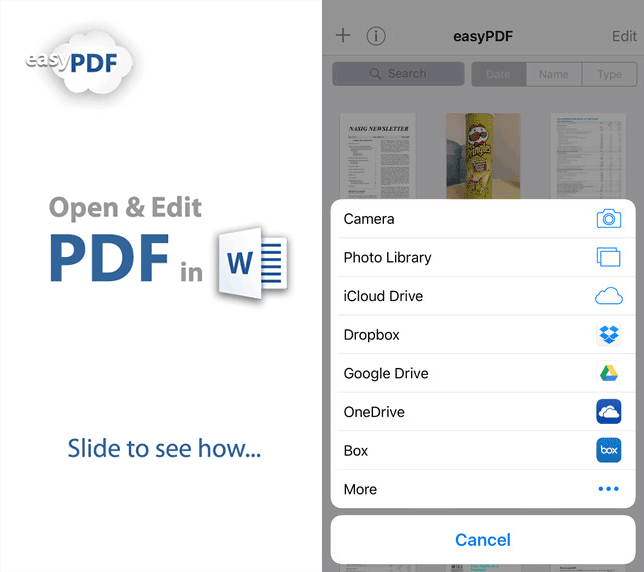 pdf à word iphone