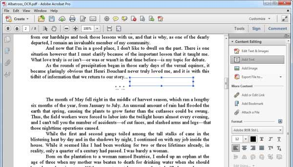 Edit PDF Text with Adobe Acrobat
