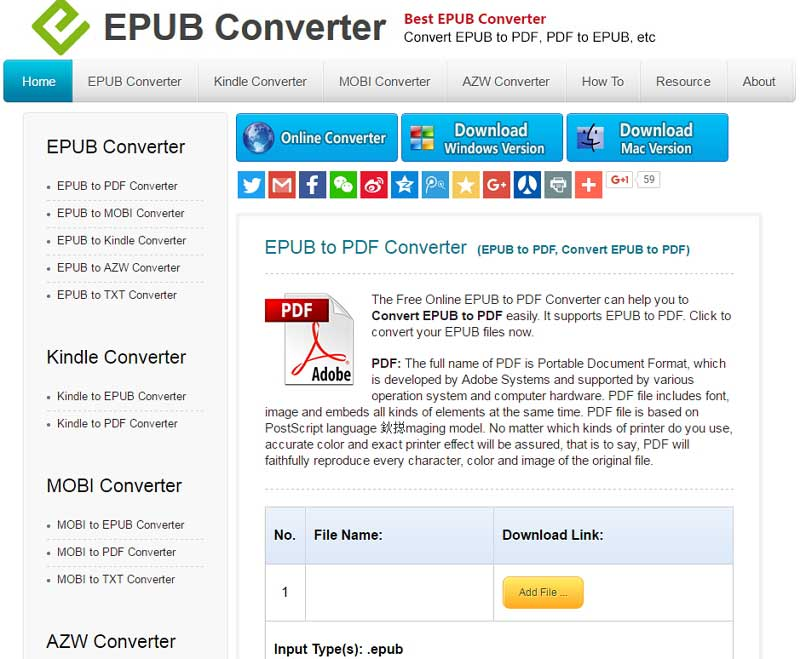 convert ebook to pdf