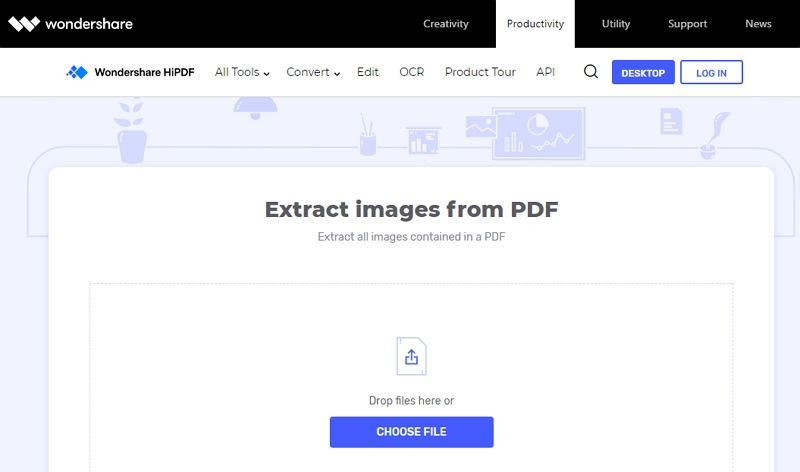 estrarre l'immagine dal pdf online