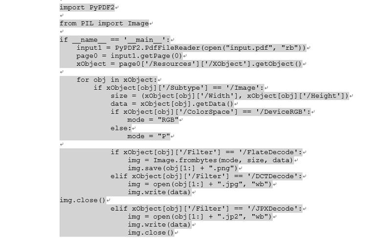 estrarre immagini dai pdf con python