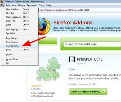 How to Print to PDF in Firefox, Chrome, IE, Safari