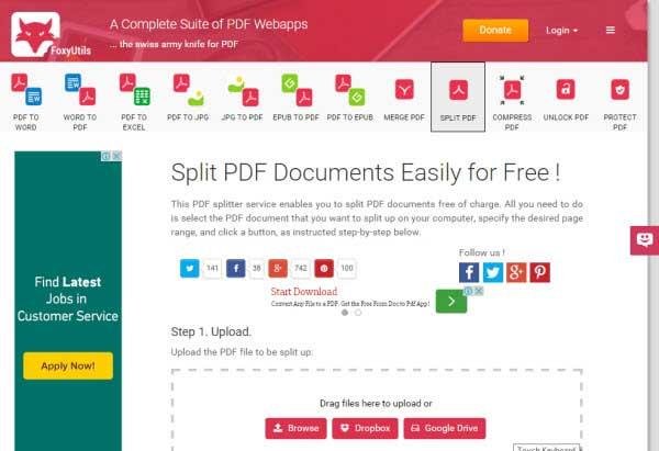 séparateur document pdf en ligne