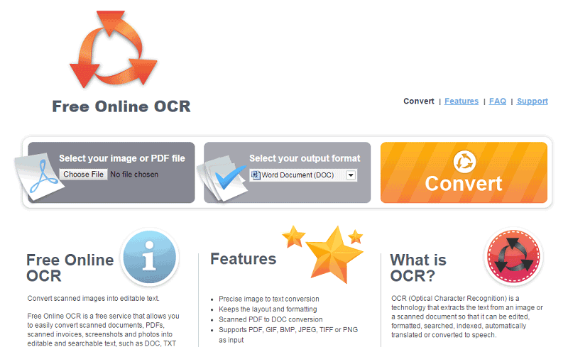 PDF to Texto Converter OCR on-line