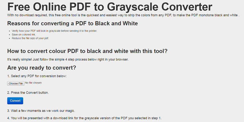 convert color pdf to grayscale