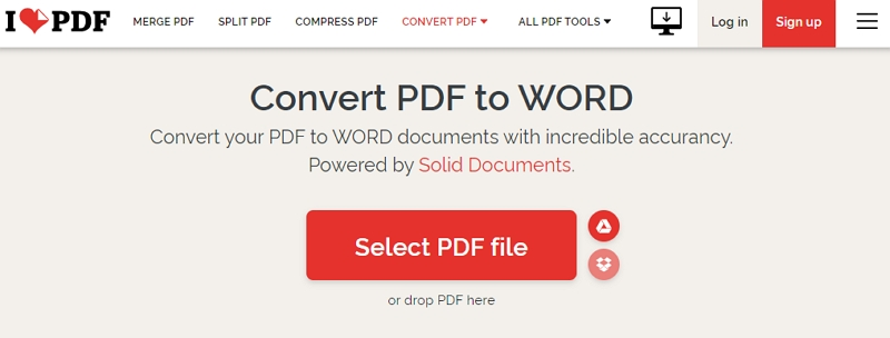 How to Convert PDF to Word with iLovePDF
