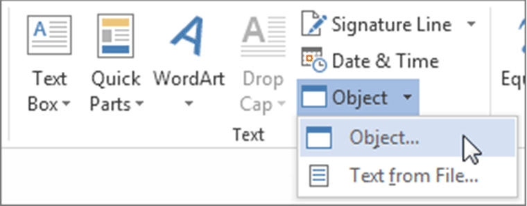 attach pdf to word