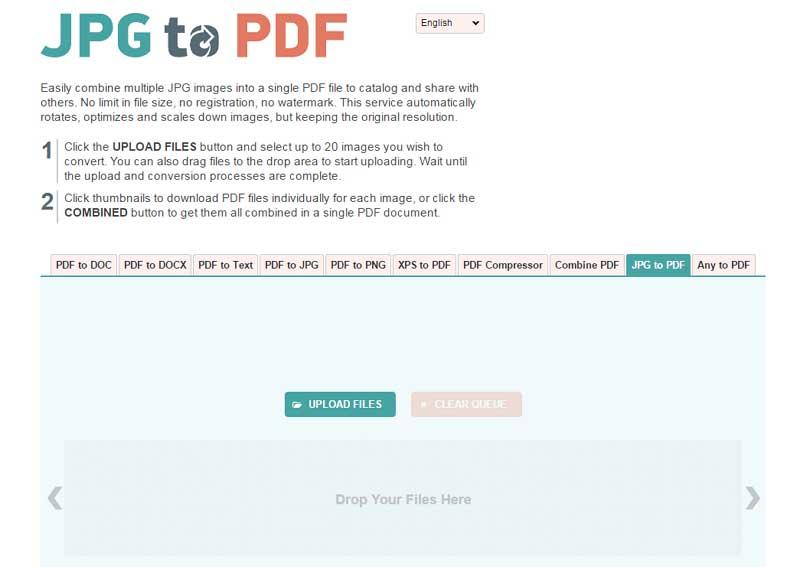 convertisseur de jpg en pdf