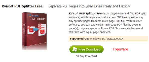 split pdf freeware