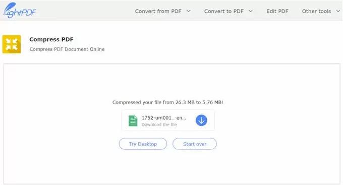 convertisseur de taille pdf en ligne