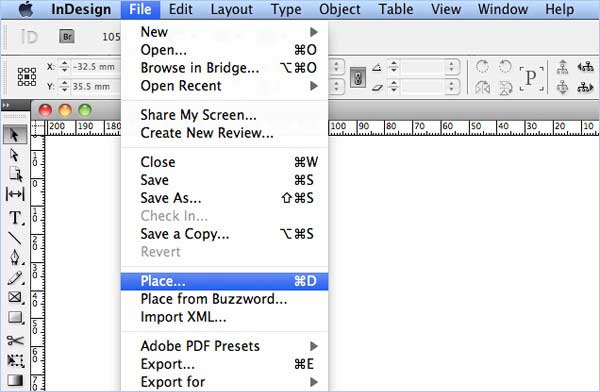 open pdf in indesign