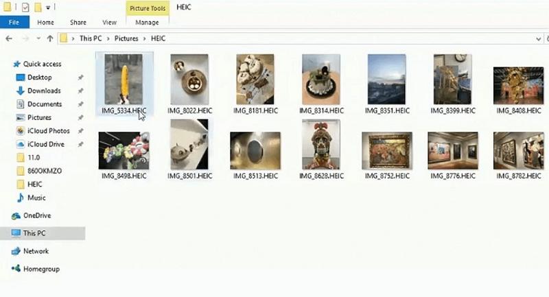 apri il file heic su Windows