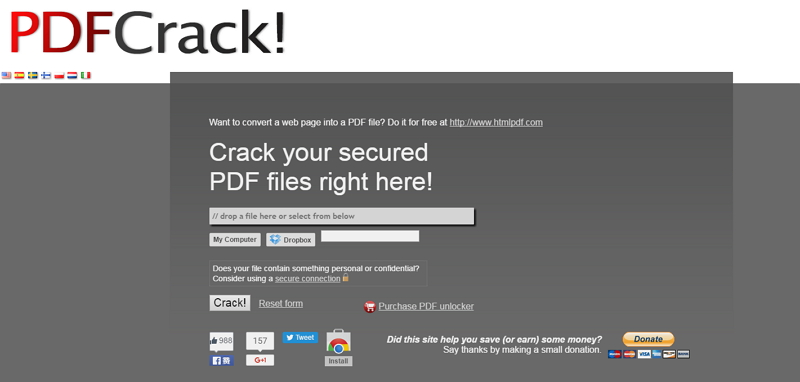 encrypted pdf file unlock