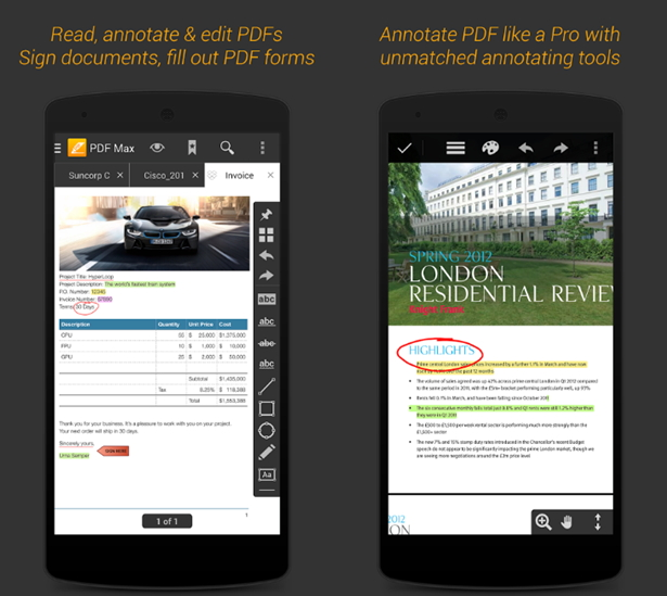 best android app to write on pdf file, Invoice templates