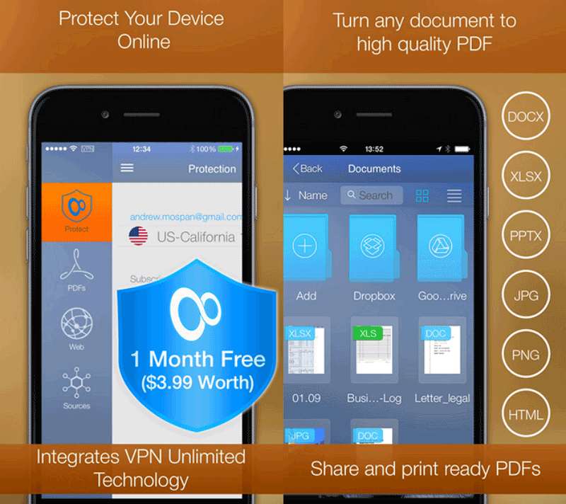 pdf printer gratuit pour iphone