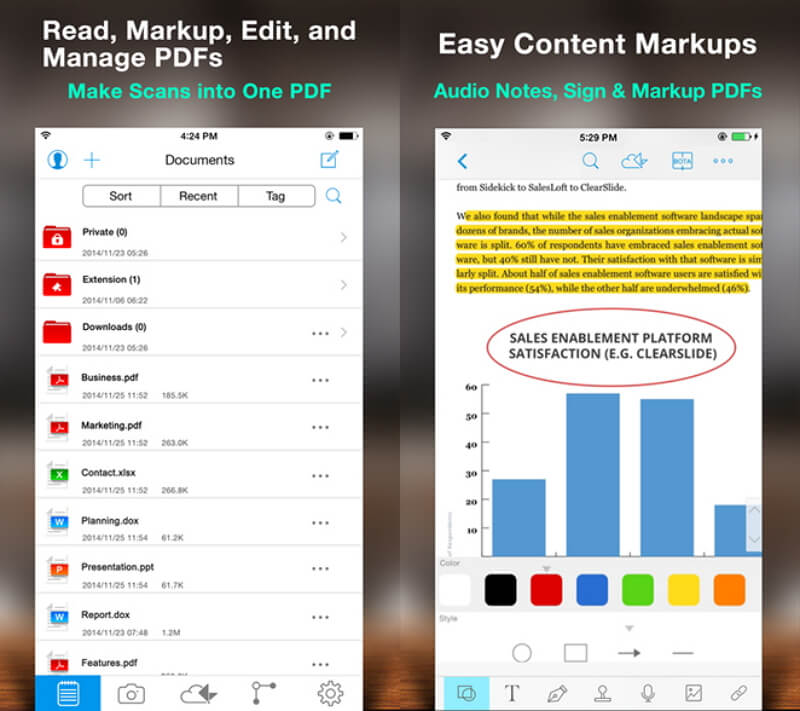 pdf viewer on iphone