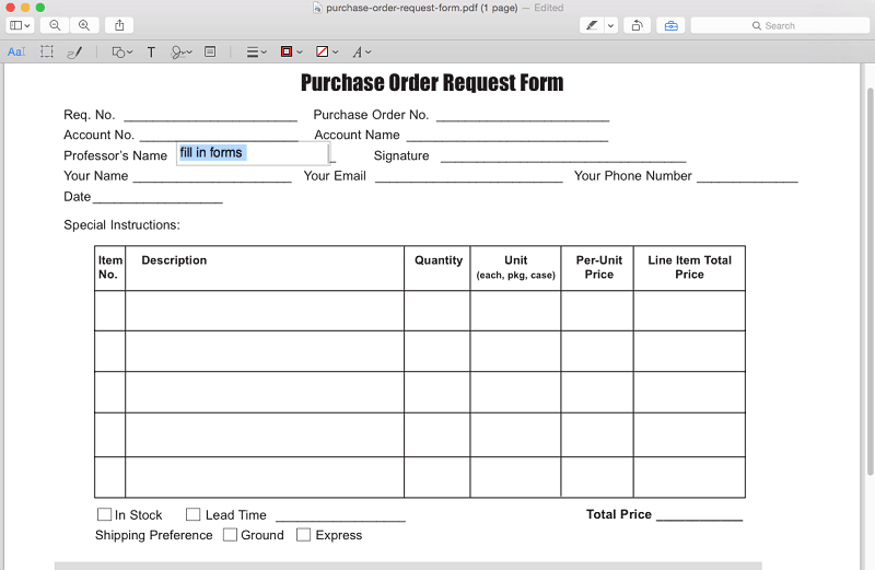 edit pdf forms with preview on mac