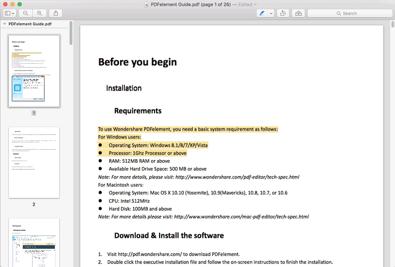 how to highlight in preview pdf mac