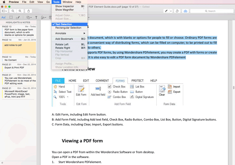 edit text with preview on mac