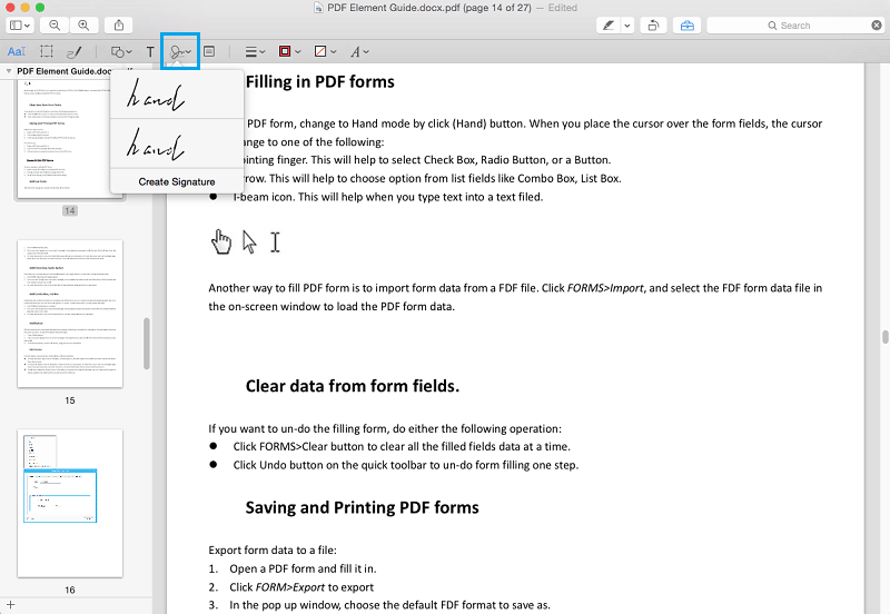 sign pdf with preview on mac
