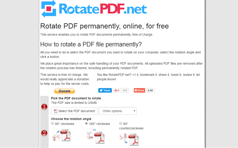 Image result for rotate PDF and save online