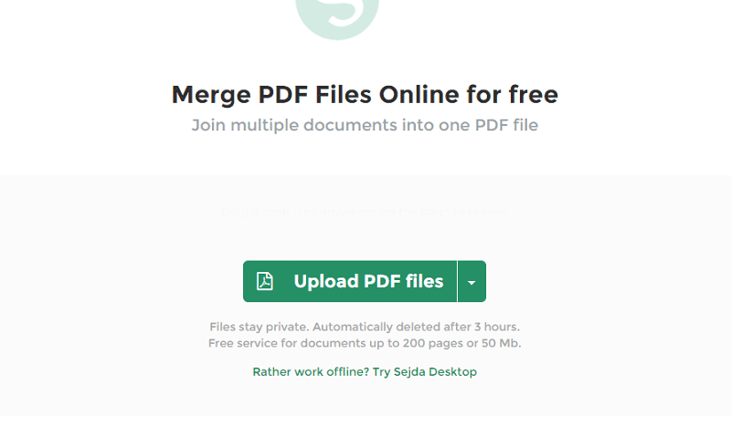 accorpare pdf online