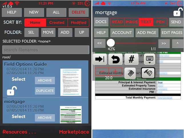 Smart Forms remplir pdf sur iphone