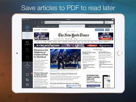 Convert Webpage to PDF on iPad