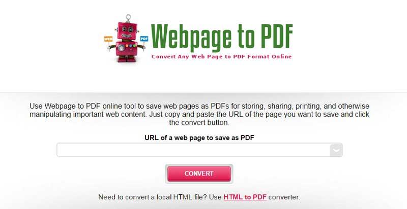Top 6 Online Webpage to PDF Converters