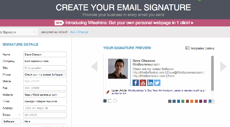 Top 5 free email signature generator wondershare pdfelement for Free email signature template