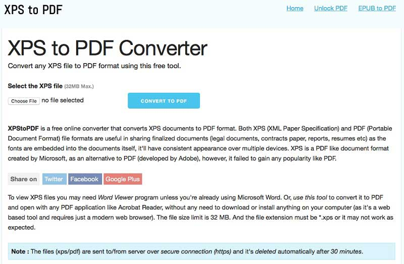 Top 6 Online XPS to PDF Converters