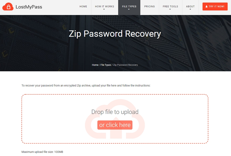 zip file password recovery online free