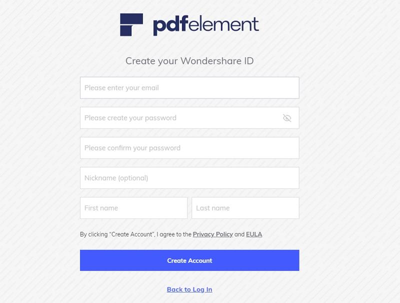 create wondershare id