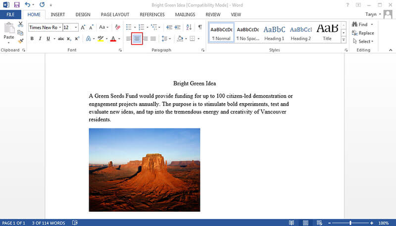align text boxes in word