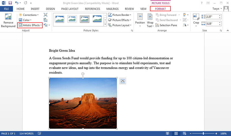 how to edit picture in microsoft word