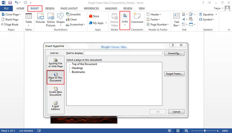 Make Bookmark Template In Word Wondershare Pdfelement