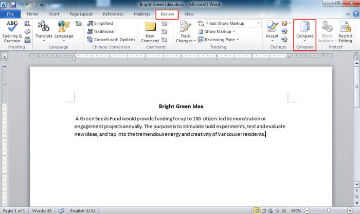 word compare documents