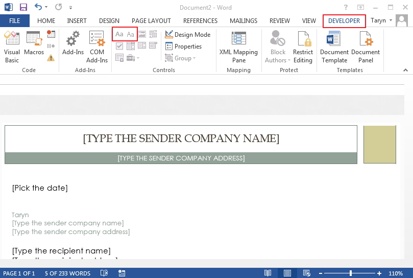 6 Simple Steps To Create A Form In Word File