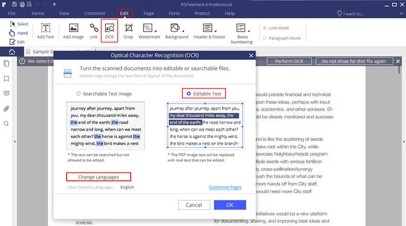 how to edit a scanned document in word | wondershare pdfelement
