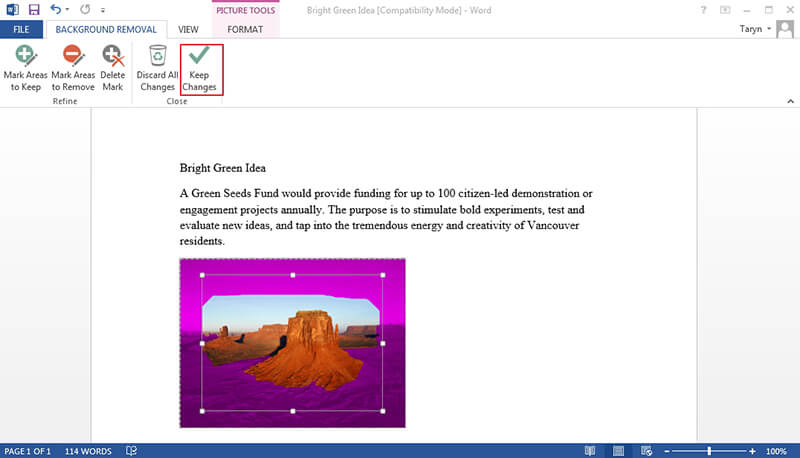 how to make a picture on microsoft word the background