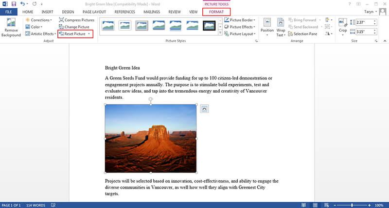 cómo editar una imagen en Microsoft Word