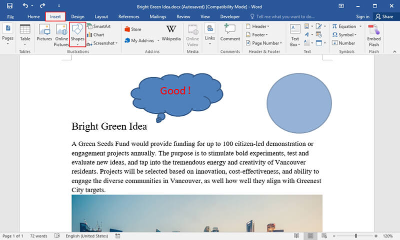 How to Draw a Circle around Something in Word for Free
